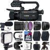 Canon XA15 Compact Full HD Camcorder with SDI, HDMI, and Composite Output with Microphone Essential Bundle