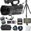 JVC GY-HM180 12.4MP 4K Ultra HD Camcorder with Sony 256GB Memory Card Supreme Bundle
