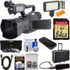JVC GY-HM200U/250 Ultra 4K HD 4KCAM Professional Camcorder & Top Handle Audio Unit with XLR Microphone   64GB Card   Hard Case   LED Light Kit