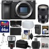 Sony Alpha a6500 4K Wi-Fi Camera Body + 18-200mm Lens Deluxe Kit
