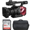 Panasonic AG-DVX200 4K Professional Camcorder with Sandisk 64GB Memory Card & Large Camcorder Carrying Case