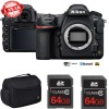 Nikon D850 45.7MP Full-Frame FX DSLR Camera (Body) with Dual 64GB Pro Memory Cards