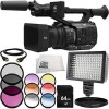 Panasonic AG-UX90 4K/HD Professional Camcorder 8PC Accessory Bundle � Includes 64GB SD Memory Card + 3 Piece Filter Kit (UV + CPL + FLD) + MORE