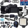 Canon XA25 HD Professional Camcorder | Wideangle Lens | Telephoto Lens |2 PC 64GB MCs | Tripod | LED Light | 3 PC Filter Kit Bundle