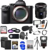 Sony Alpha A7R II 4K Wi-Fi Digital Camera Body with FE 55mm f/1.8 Lens Deluxe Bundle