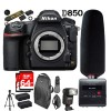 Nikon D850 45.7MP Full-Frame FX-Format DSLR Camera 64GB Tascam Audio Recorder Kit