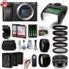 Sony Alpha A6300 Mirrorless Black Camera Kit with 16-50mm and Filter Bundle
