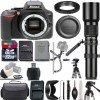 Nikon D3500 DSLR Camera (Body Only) with 500mm Telephoto Lens -32GB Deluxe Bundle