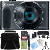 Canon PowerShot SX620 HS 20.2MP Digital Camera Black w/ 32GB Card Accessory Bundle