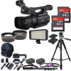 Canon XF100 Professional Camcorder w/ 2PC 64GB High Speed Memory Cards Accessory Bundle