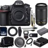 Nikon D850 DSLR Camera Nikon AF-P NIKKOR 70-300mm ED VR Lens 128GB MC  External Flash Mini HDMI Cable Universal Wireless Remote