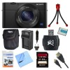 Sony DSC-RX100M4 Cyber-shot 20.1 MP Camera Bundle 64GB SDXC Memory Card; Carrying Case; Mini Tripod; Screen Protectors; Battery; Charger