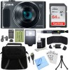 Canon PowerShot SX620 HS 20.2MP Digital Camera Black w/ 64GB Card Accessory Bundle