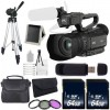 JVC GY-HM200 4KCAM COMPACT HANDHELD CAMCORDER +64GB MC+FULL SIZE TRIPOD+CASE+ 62MM 3 PIECE FILTER KIT+SD READER+MC WALLET+DELUXE BUNDLE