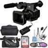 Panasonic AG-UX180 4K Premium Professional Camcorder with Rain Protection| Case | Sandisk 128GB Memory Card | More