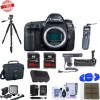 Canon EOS 5D Mark IV DSLR Body With Pro Accessory Microphone Bundle