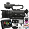JVC GY-HM170U Ultra 4K HD 4KCAM Professional Camcorder & Top Handle Audio Unit with XLR Microphone + 64GB Card + Hard Case + MORE