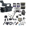 Canon XA30 Professional Camcorder with 10x Hd Video Exclusive Bundle with .43x Wide Angle Lens   2.2x Telephoto   Led Light   Tripod   2pcs 32gb High Speed Memory Cards   22pc Accessory Kit