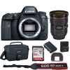 Canon Eos 6D Mark II 26.2MP Full-Frame DSLR Camera with 24-70mm f/2.8L II USM Lens | 64GB Bundle