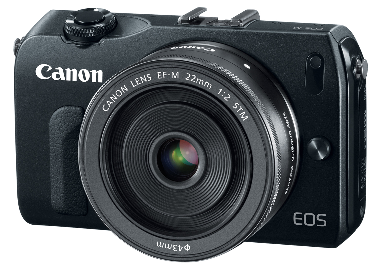 Canon EOS M Mirrorless Camera With EF M 22mm F 2 STM Lens